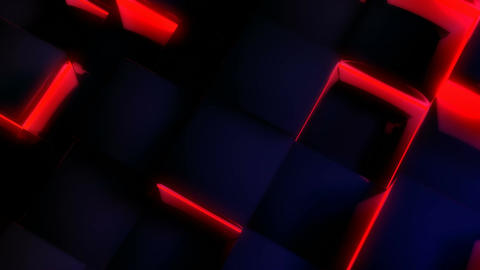 glowing blue tile Animation