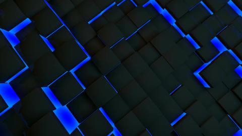 blue neon box Animation