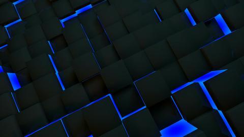 blue neon box Stock Video Footage