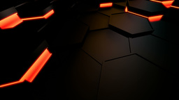 hexagonal motion tile Stock Video Footage