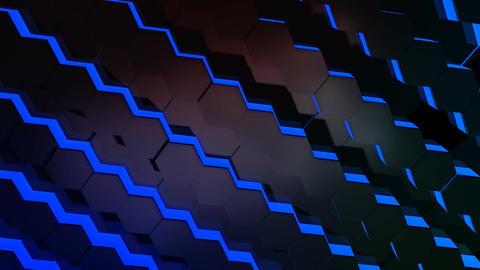hexagonal tile array Stock Video Footage