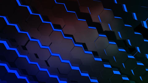 hexagonal tile array Stock Video Footage