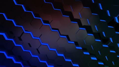 hexagonal tile array Animation