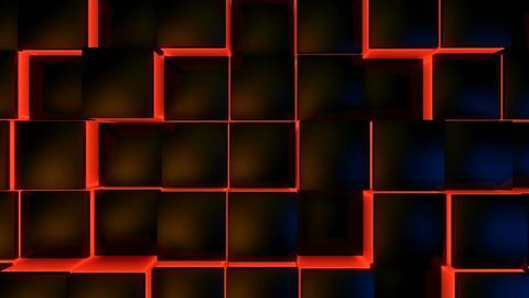 neon glowing box Stock Video Footage