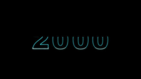 2000 2014 LEDS Count 04 Stock Video Footage
