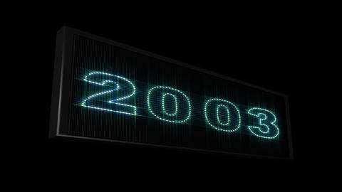 2000 2014 LEDS Count 05 Stock Video Footage