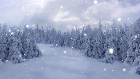 New Year,christmas,3d winter background Stock Video Footage
