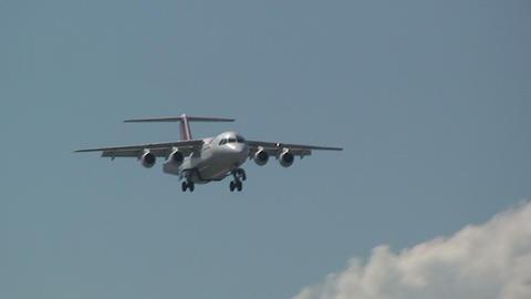 SWISS airplane Stock Video Footage