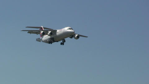 SWISS airplane Footage