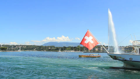 Geneva boat Stock Video Footage