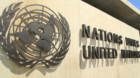 UNO - Geneva Stock Video Footage