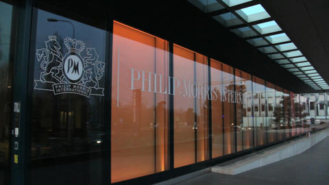 Philip Morris in Lausanne Stock Video Footage
