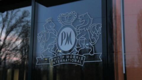 Philip Morris in Lausanne Stock Video Footage