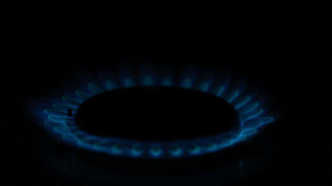 Igniting the gas stove with piezo Stock Video Footage