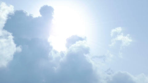 Sunshine behind the clouds Stock Video Footage