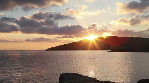 Timelapse of beautiful sunrise in the greek harbor Footage