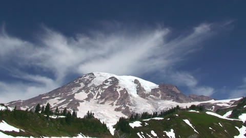 Mount Rainier, time lapse Stock Video Footage