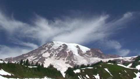 Mount Rainier, time lapse Stock Video Footage