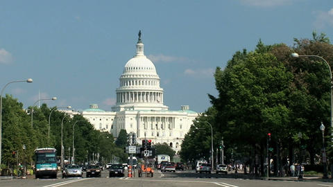 US Capitol, time lapse Stock Video Footage