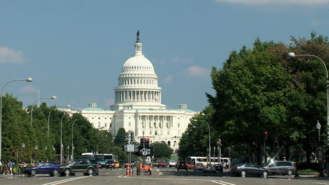 US Capitol, Time Lapse stock footage