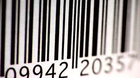 Red Scanner Reading Barcode - close-up Stock Video Footage