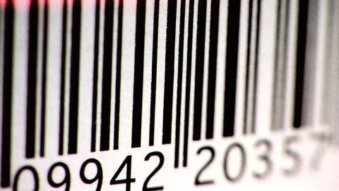 Bar Code stock footage