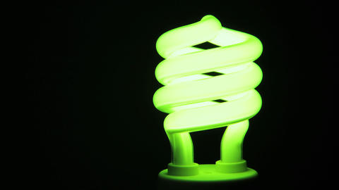 Energy Saving Light bulb Stock Video Footage