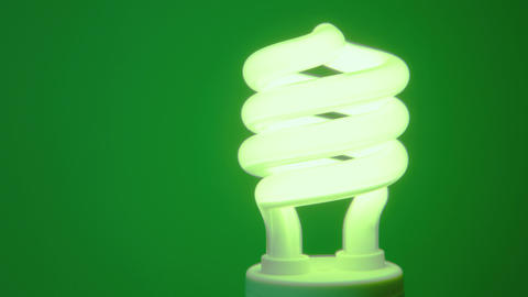 Energy Saving Light Bulb stock footage