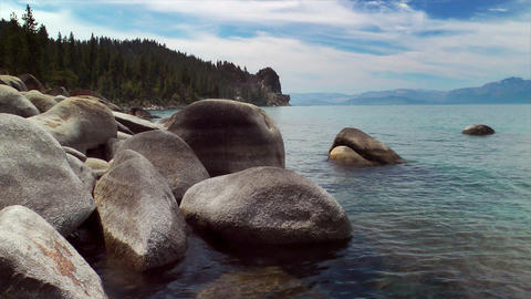 Lake Tahoe Shore Stock Video Footage