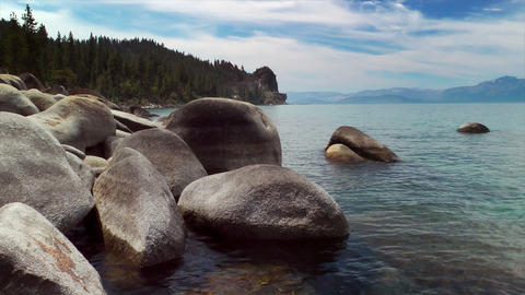 Lake Tahoe Shore stock footage
