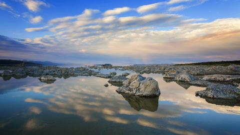 Mono Lake, Time Lapse Stock Video Footage