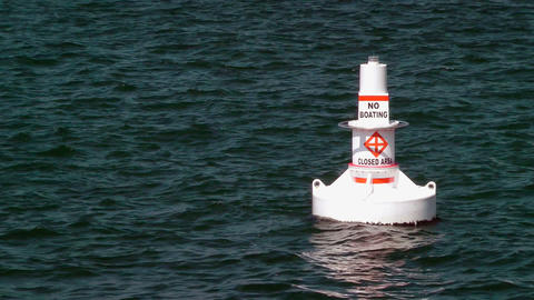 No Boating Buoy Stock Video Footage
