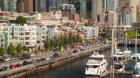 Streetscene, Seattle Waterfront Stock Video Footage
