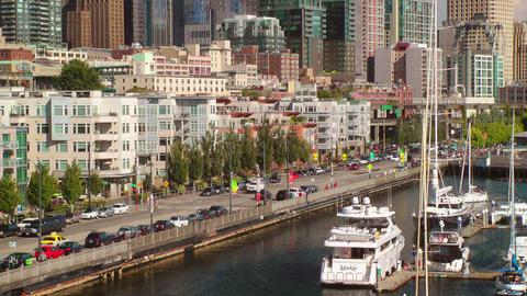 Streetscene, Seattle Waterfront Stock Video Footage