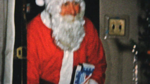 Santa Claus Saying Goodbye 1961 Vintage 8mm film Stock Video Footage