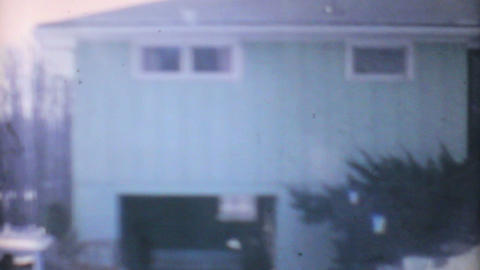 Winter Time In Suburbia 1961 Vintage 8mm film Stock Video Footage
