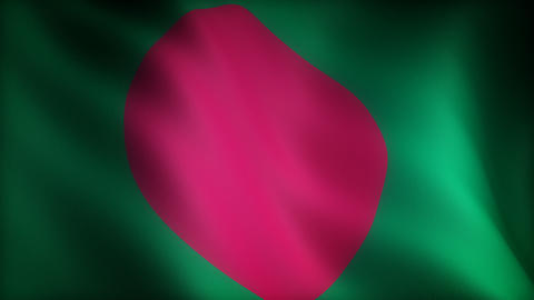 Flag of Bangladesh Animation