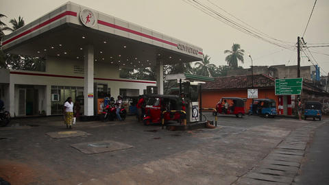 Gasoline station in Tangalle Stock Video Footage