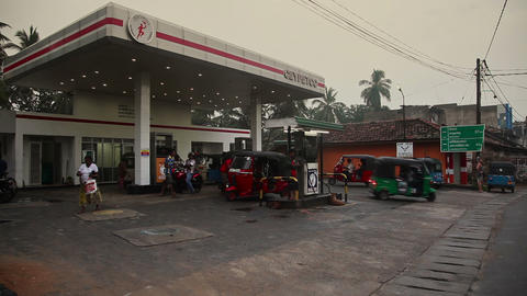 Gasoline station in Tangalle Footage