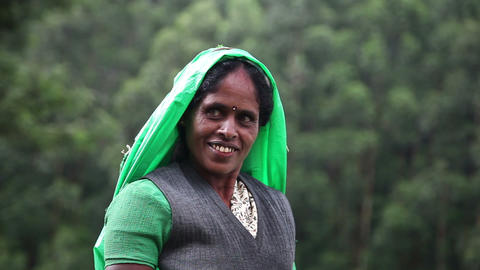 Portret of indian woman Stock Video Footage