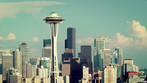 Seattle Skyline Time Lapse Footage