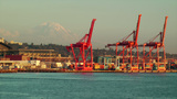 Seattle Shipping Industrial Area stock footage