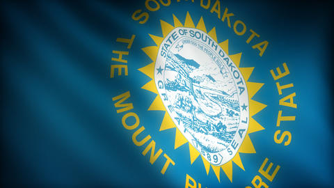 Flag of South Dakota Stock Video Footage