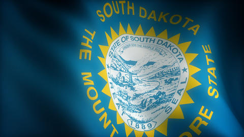 Flag of South Dakota Animation