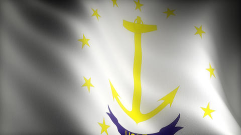 Flag of Rhode Island Animation