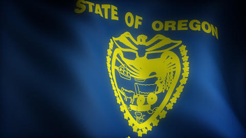 Flag of Oregon Stock Video Footage