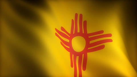 Flag of New Mexico Stock Video Footage