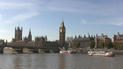 London Westminster and Big Ben Stock Video Footage
