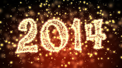 Sparkling New Year 2014 Title stock footage