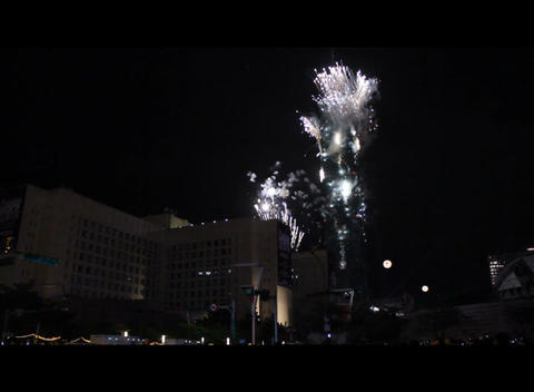 Taipei 101 New Year Fireworks Show Stock Video Footage